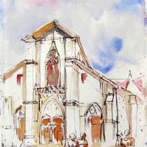 149-La Cathédrale de Chambéry, intérieur peint en trompe-l'oeil par 2 Italiens. Magnifique !
