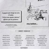 La pub pour l'expo. de Lièzey, réalisation du dessin de couverture;