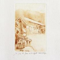 * 384- La ferme de La Soyotte à St-Dié, vélin d'arches,20x30