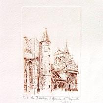 * 1077-  Gravure,estampe :   La Basilique St-Maurice d'Epinal