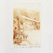 *1113-  Gravure,estampe :   La ferme de la Soyotte à St-Dié