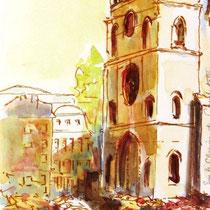 *456- le Marché et la Cathédrale St-Étienne de Cahors, 40 x 15