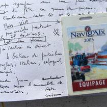 Le carnet de voyage offre la possibilité permanente de rappeler les circonstances exactes de l'évènement traité