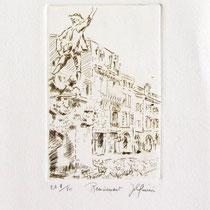 * 332- Le Volontaire de Remiremont, estampe sur vélin d'Arches 20x30