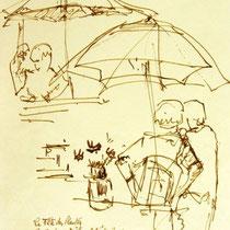 * 470- Le Haut- du Tôt, dessin , lavis étude pour un tableau 20 x 30 .