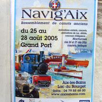 L'affiche 2005 de Navig'Aix
