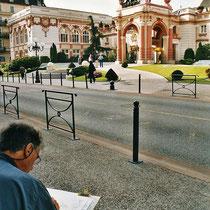 VISITONS CHAMBÉRY :       Devant le Casino d'Aix-les-Bains.