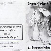 Utilisation de mon dessin pour l'exposition de peinture de Dommartin-les remiremont