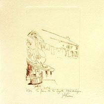 * 378- La ferme de La Soyotte à St-Dié, vélin d'arches, 20x30