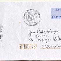 La 1ère enveloppe prétimbrée La Poste à Remiremont et la 3ème en France. Avec mon dessin bénévole que vous retrouvez dans les gravures