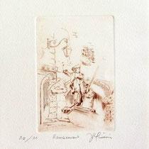 *330-1   Le Volontaire de Remiremont, estampe sur vélin d'Arches 20x30