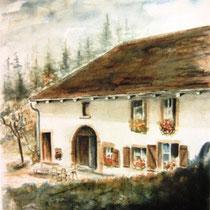 238- La ferme de la Sténiole,aquarelle 30x40