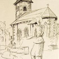 362- Le Haut-du-Tôt, lors de la fête des plantes,dessin pour un tableau