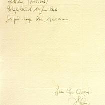 *Verso de l' estampe de la roue d'eau du Haut -Fer, vélin d'Arches, 20x30