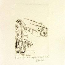 *1111-  Gravure,estampe :   La ferme de la Soyotte à St-Dié