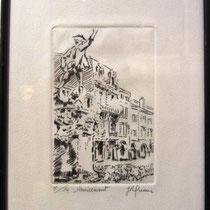 """* 1081 -   Gravure,estampe :  """"  Le Volontaire """" de Remiremont"""