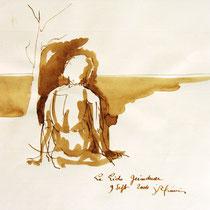 * 272- Lavis teinte merisier, la vie autour du lac de Gérardmer, 21x30