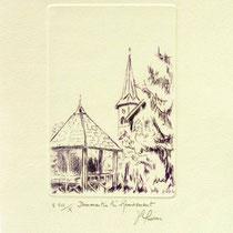 * 1096-  Gravure,estampe :   Dommartin- lès- Remiremont