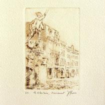 329- Le Volontaire de Remiremont, estampe sur vélin d'Arches 20x30