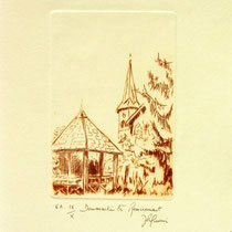 * 1094-   Gravure,estampe :  Dommartin- lès- Remiremont