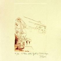 *1108-  Gravure,estampe :   La ferme de la Soyotte à St-Dié