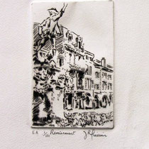 """1082 -  Gravure,estampe :   """" Le Volontaire """" de Remiremont"""