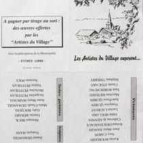 Dessin de l'invitation à visiter l'exposition de Dommartin-lès-remiremont.