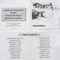 La pub pour l'expo. de Lièzey, réalisation du dessin de couverture.