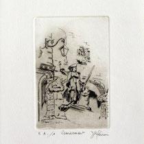 """*1087  -  Gravure,estampe :  """"Le Volontaire """" de Remiremont"""