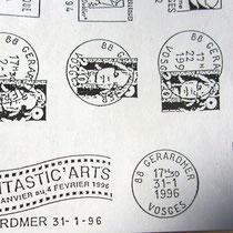 217- Ma participation au Festival du film fantastique à Gérardmer en 1996, par la création de la flamme postale.