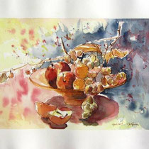 * 464- La coupe de fruits 1, 50x 70