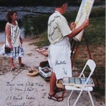 """Lors du concours in-situ au lac des 7 chevaux,organisé par """"l'art dans la rue"""", et je rends hommage aujourd'hui à Pierre Canaple,organisateur à l'époque."""