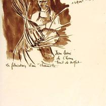 * 473-Peints sur le vif , lors d'un exposition de peinture à Thann, animation d'artistes et d'artisans,21 x 30