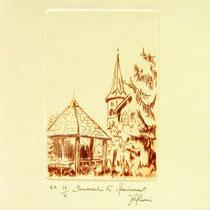 * 388  Le village de Dommartin-lès-Remiremont,vélin d'Arches, 20x30