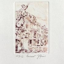"""1086 -  Gravure,estampe :   """" Le Volontaire """" de Remiremont"""