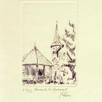 * 390 Le village de Dommartin-lès-Remiremont,vélin d'Arches, 20x30.