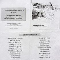 Dessin de l'invitation à visiter l'exposition de Lièzey.