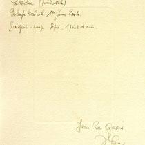 Verso de l'estampe :Le haut-fer de Bois-de Champ et sa roue d'eau