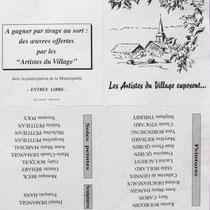 La pub pour l'expo. de Dommartin-lès-Remiremont, réalisation du dessin de couverture.