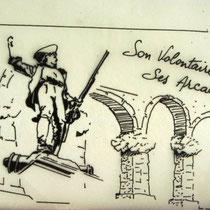 Dessin de la flamme postale utilisée par l'Office de Tourisme de Remiremont;