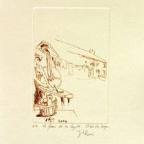 *1106-  Gravure,estampe :   La ferme de la Soyotte à St-Dié