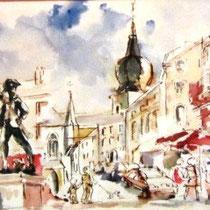 293- Remiremont, composition réalisée sur place ,en changeant d'endroit pour chaque nouveau sujet enchaîné au précédent.