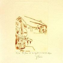*1109-  Gravure,estampe :   La ferme de la Soyotte à St-Dié