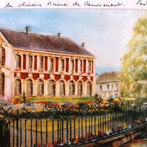 315-  Le jardin des Olives de la Mairie à Remiremont, pastel 50x70