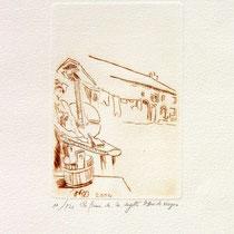 * 385- La ferme de La Soyotte à St-Dié, vélin d'arches, 20x30