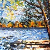 * 205a- Le lac de Gérardmer, Huile 41 X 33