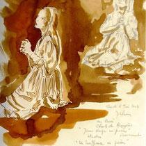 * 1125- Autre étude de la même statue dans l'entrée du Musée Charles-de-Bruyère à Remiremont