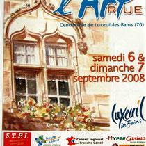 L'art dans la rue à Luxeuil-les-Bains, mon aquarelle illustre cette affiche