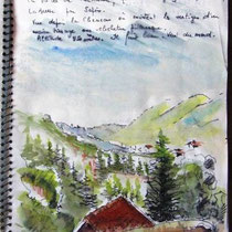 Page de carnet de voyage