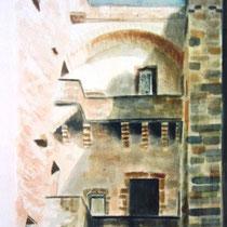 123- La Tour des Échevins , aquarelle 50X70